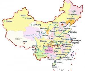 中國(張家界)旅行マップ