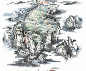 張家界天門山観光地マップ